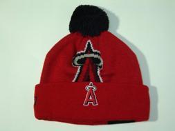 New Era MLB Losangeles Angels Woven Biggie Cuffed Pom Knit H