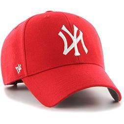 MLB New York Yankees Men's '47 Brand Bullpen MVP Cap, Red, O