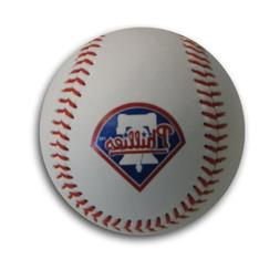 MLB Philadelphia Philies Blank Leather Team Logo Baseballs