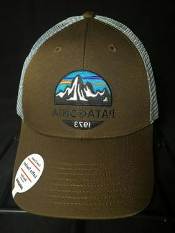 Patagonia Mountain Range Trucker Hat Dad Cap Brown/Blue Low