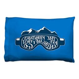 The Mountains Are Calling Goggles Pillowcase | Skiing and Sn