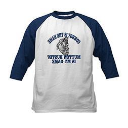CafePress - MUTTON BUSTIN' IS MY GAME Kids Baseball Jersey -