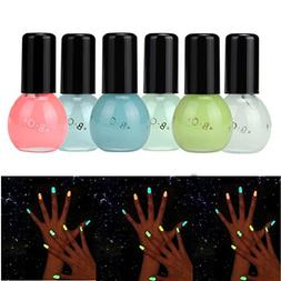 Hot Nail Art! AMA 6 Candy Colors Fluorescent Neon Luminous N