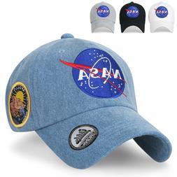 ililily NASA Meatball Logo Embroidery Baseball Cap Apollo 13