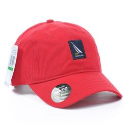 Nautica Hat Baseball Golf Ball Classic Sport Casual Red Unis