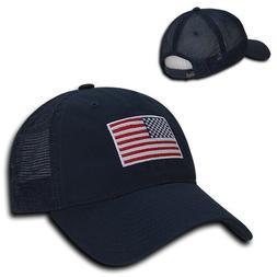 Navy Blue USA US American Flag United States America Trucker