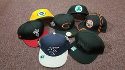NBA NFL MLB Fitted Baseball Caps, Size 7-1/2, Reebok and New