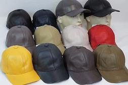 New 100% Genuine Real Lambskin Leather Baseball Cap Hat Spor