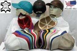 New 100% Real Genuine Lambskin Leather Baseball Cap Hat Spor