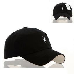 NEW ADULTS POLO RALPH LAUREN BASEBALL CAP HAT Beige with Nav