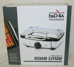 NEW All-Clad Metalcrafters 2 Square Belgian Waffle Maker #WD