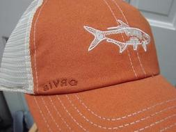 Orvis NEW Baseball Cap Ventilated Orange Trout NWT