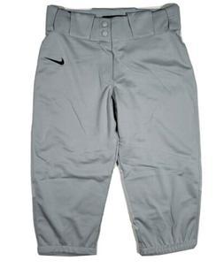 New Nike Boys gray Vapor Pro Knee-Length Baseball Pants Yout