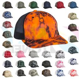 New! Richardson Camo Patterned Trucker Ball Cap Meshback Hat