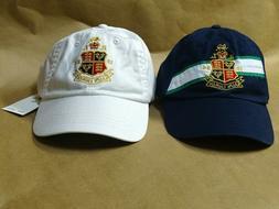 NEW POLO RALPH LAUREN Crest Logo Hat Chino Baseball Cap Gold