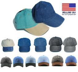 New Fashion Baseball Cap Hat Blue Jean Denim Nostalgic Wash