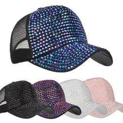 new fashion womens casual rhinestone hats female