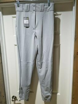 NEW Men's Easton Deluxe Baseball Pants Elastic Cuff Gray Med