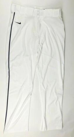 New Nike Men's L Vapor Pro White Pant Navy Piped Baseball Pa