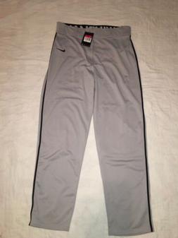 NEW Men's Nike Swingman Piped Baseball Pants Gray Black Stri