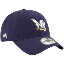 NEW MLB Milwaukee Brewers New Era Navy Blue Fitted Baseball