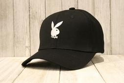 New Playboy Baseball Cap Black Hat Embroidered Bunny Logo