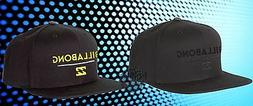New Billabong System Twill Mens Snapback Black Cap Hat