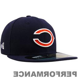 NFL Chicago Bears On Field 5950 Game Cap, Navy, 6 1/2, Youth