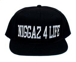 Niggaz 4 Life EFIL4ZAGGIN Flat Brim Hat Cap Eazy E Compton N