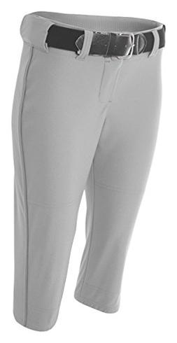 A4 NW6188 Adult Softball Pant with Cording - Grey, Small