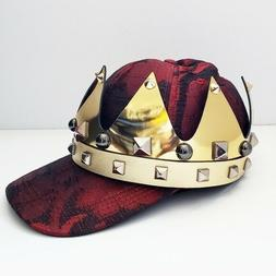 NWT AUTHENTIC DOLCE & GABBANA MEN RED JACQUARD BASEBALL CAP