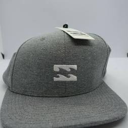 NWT! Billabong Men's Gray All Day Snapback Hat Baseball Cap