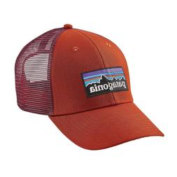 NWT Patagonia P-6 LoPro Trucker Hat Baseball Cap Roots Red A