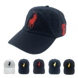 POLO Big Pony Baseball Cap 100% Cotton Dad Hat Visor Sunhat