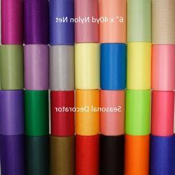 "Nylon Net 6 Inch Scrubbie Mesh Scrubber 6"" 40yd. Spool Choos"