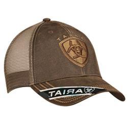 Ariat Oilskin Mesh Cap Brown One Size