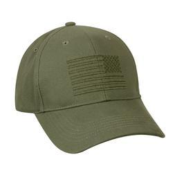 Olive Drab Green Military Army USMC USA US Flag Low Profile