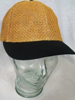 Open Weave Straw Baseball Cap 5 Colors for large/extra large