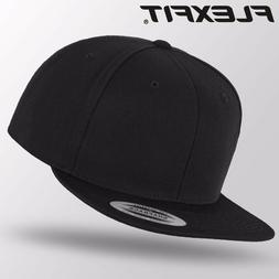 Original Flexfit Snapback Cap Baseball Cap Black/Black One S