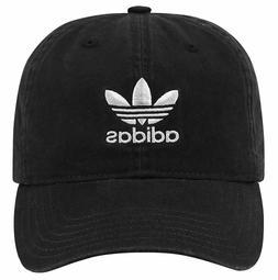 ADIDAS ORIGINALS Black Hat Relaxed Strapback Dad Baseball Ca