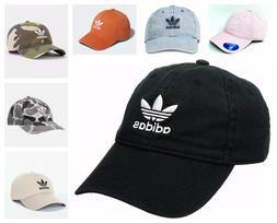 Adidas Originals Mens Relaxed Strapback Hat 100% Cotton Blac