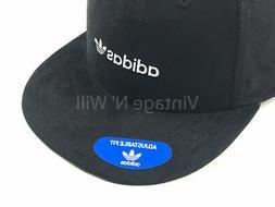Adidas Originals Relaxed Black Faux Suede/ White Trefoil Log