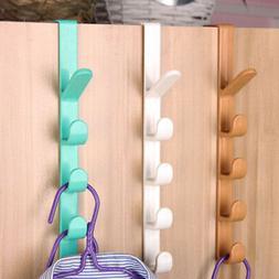 Over The Door Storage Hook Rack Plastic Towel Hat Coat Belt