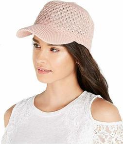 INC Packable Knit Baseball Cap Pink