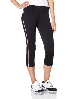 Easton Women's Pro Pant with Piping - Medium Black/Pink
