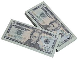 Paper Playing Money - $20 Twenty Dollar Bills Pretend Play M