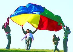 'Playscene' Children's Multicolored Parachute With 8 Handl