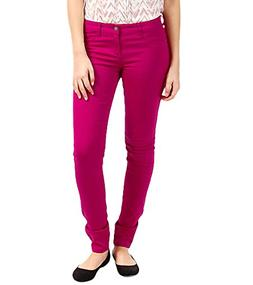 Billabong Juniors Peddler Colors Skinny Jean, Fiesta Fuchsia