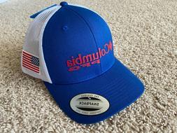 Columbia PFG USA Flag Mesh Snap back Ball Cap in Mtn Blue OS
