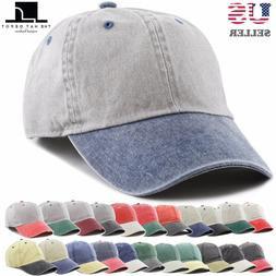 The Hat Depot Pigment Dyed TwoTone Low Profile Cotton Six Pa
